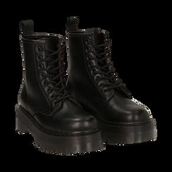 Botas militares en color negro, Primadonna, 162800001EPNERO035, 002 preview