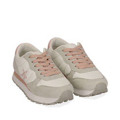 Sneakers bianche in tessuto , Primadonna, 170620011TSBIAN035, 002a