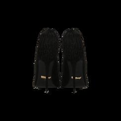 Décolleté nere con pon-pon, tacco stiletto 11,5 cm, Primadonna, 122100530MFNERO035, 003 preview