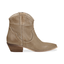 Stivali Texas traforati beige in vitello , Scarpe, 138900077VIBEIG036, 001 preview