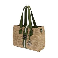 Bolso verde de rafia, Primadonna, 172320079RFVERDUNI, 002a