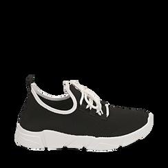 Sneakers en tejido en color negro, Zapatos, 159715007TSNERO036, 001a