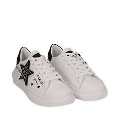 Baskets blanches avec étoile, Primadonna, 172621010EPBIAN035, 002a