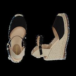 CALZATURA ESPADRILLAS MICROFIBRA NERO, Zapatos, 154922102MFNERO036, 003 preview