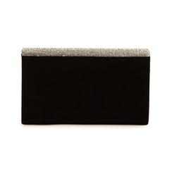 Pochette noir en microfibre avec des strass, Sacs, 155108562MFNEROUNI, 003 preview