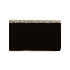 Pochette laminada con pedrería color negro, Bolsos, 155108562MFNEROUNI, 003 preview