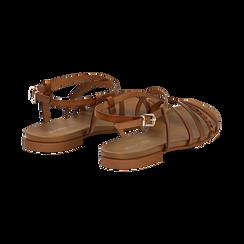 Sandali cuoio in eco-pelle, Saldi Estivi, 13B915126EPCUOI036, 004 preview