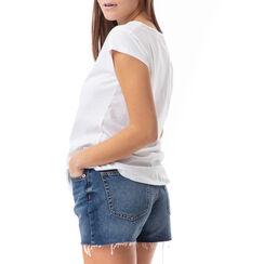 T-shirt blanc à imprimé mode, Primadonna, 17I702004TSBIANL, 002a