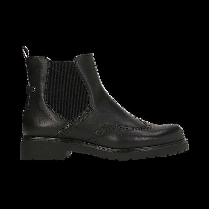 Chelsea Boots neri con lavorazione Duilio, Scarpe, 120800205EPNERO