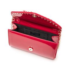 Clutch rossa borchiata in vernice, Borse, 145186501VEROSSUNI, 004 preview