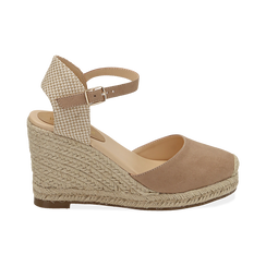 WOMEN SHOES ESPADRILLAS MICROFIBER BEIG, Chaussures, 154922102MFBEIG035, 001a