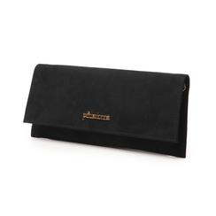 Pochette piatta nera in microfibra, Primadonna, 145122509MFNEROUNI, 004 preview