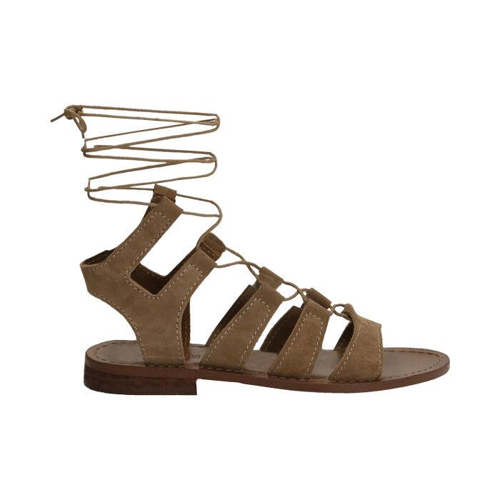 Sandalias gladiadoras de ante taupe, Primadonna, 178100348CMTAUP035