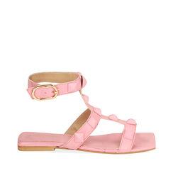 Sandalias rosa de cuero, Primadonna, 17L602302PEROSA035, 001a