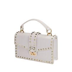 Pequeño bolso blanco con tachuelas, Primadonna, 175122990EPBIANUNI, 002a