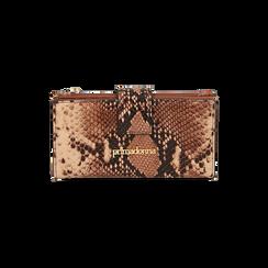 Portafogli marrone stampa pitone, Primadonna, 165122158PTMARRUNI, 001 preview