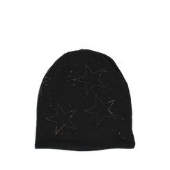 Cappello nero in tessuto con stelle, Abbigliamento, 14B406052TSNEROUNI, 001a