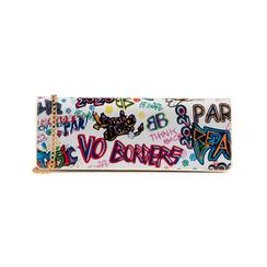 Pochette blanche verni avec un imprimé graffit, Sacs, 155122738VEBIMUUNI, 001 preview