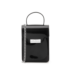 Mini-bag nera in pvc, Primadonna, 137400908PVNEROUNI, 001a