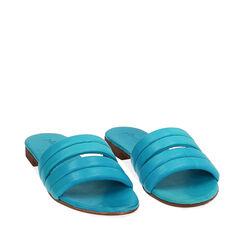 Zapatillas de cuero turquesa, Primadonna, 177204903PETURC035, 002a
