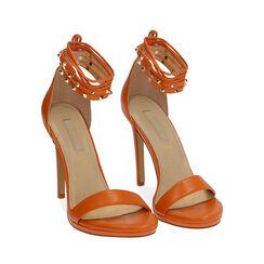 Sandali lace-up arancio, tacco 11 cm, Primadonna, 172133431EPARAN036, 002 preview