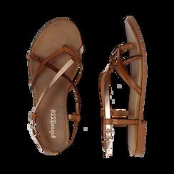 Sandali infradito cuoio in eco-pelle, Primadonna, 13B961532EPCUOI036, 003 preview
