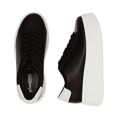 Sneakers nere, platform 6,5 cm, Primadonna, 177505101EPNERO036, 003 preview