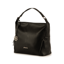 Maxi-bag de ecopiel en color negro, Bolsos, 153783218EPNEROUNI, 004 preview