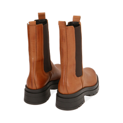 Chelsea boots cognac in pelle, Primadonna, 167277044PECOGN035, 004 preview