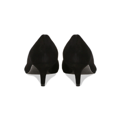 Décolleté nere Kitten heels in vero camoscio, tacco 3 cm, Primadonna, 12D617210CMNERO, 003 preview