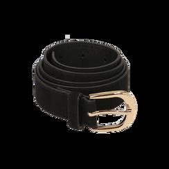 Cintura nera in microfibra, Abbigliamento, 144045710MFNEROUNI, 001 preview