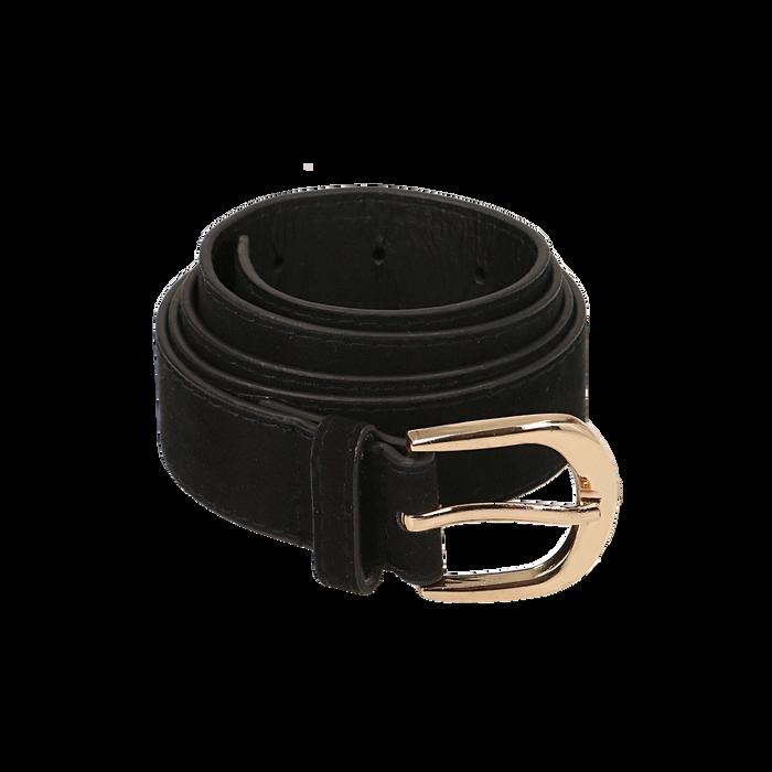 Cintura nera in microfibra, Abbigliamento, 144045710MFNEROUNI