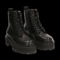 Amphibiens platform noir en cuir, Primadonna, 167728502PENERO036, 002a