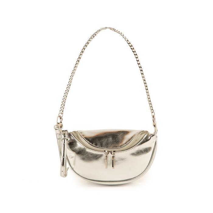 Petit sac argenté en simili-cuir brillant, Sacs, 155122722LMARGEUNI