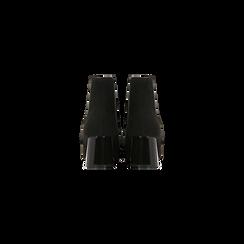 Chelsea Boots Neri Tacco con Largo Alto, Scarpe, 122707127MFNERO, 003 preview
