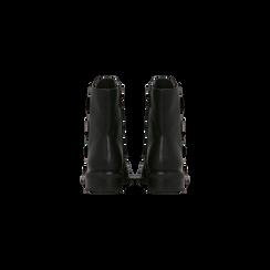 Stivaletti Biker neri con dettagli metal, tacco basso, Primadonna, 12A700617EPNERO, 003 preview
