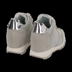 Baskets à paillettes dorées et argentées, Chaussures, 152821522GLARGE037, 004 preview