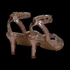 Sandali rosa in laminato, tacco 7 cm, Primadonna, 134819206LMROSA036, 004 preview