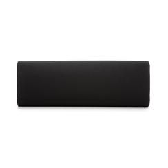 Clutch nera in raso, Borse, 133308684RSNEROUNI, 003 preview