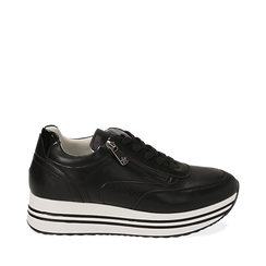 Sneakers platform nere, Scarpe, 152821311EPNERO035, 001a