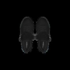 Sneakers nere con pon pon in eco-fur, Primadonna, 121081755MFNERO, 004 preview