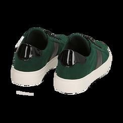 Sneakers verdi in microfibra, Scarpe, 142619071MFVERD036, 004 preview