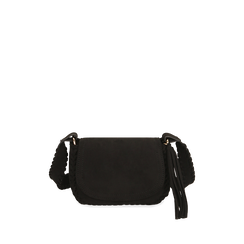 Petit sac en microfibre noir, IDEE REGALO, 165123105MFNEROUNI, 001a