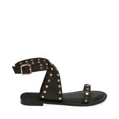 Sandalias negras con tachuelas, 174970281EPNERO035, 001a