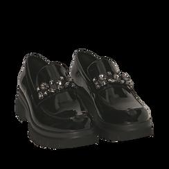 Mocasines de charol negro, Primadonna, 160685982VENERO035, 002a