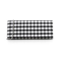 Clutch bianco/nera in tessuto stampa Vichy, Borse, 133308825TSNEBIUNI, 001 preview