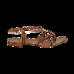 Sandali infradito cuoio in eco-pelle, Primadonna, 13B961532EPCUOI036, 001 preview