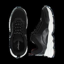 Dad shoes nere in tessuto tecnico, Scarpe, 133010051TSNERO036, 003 preview