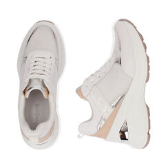 Sneakers bianche, zeppa 9 cm , Scarpe, 172892138EPBIAN037, 003 preview