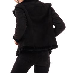 Giacca nera in microfibra, Abbigliamento, 146500413MFNERO3XL, 002a